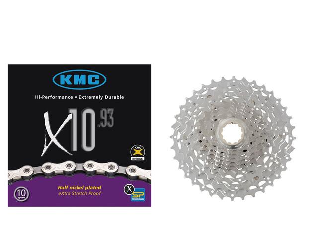 Shimano Deore XT CS-M771 Kassette 11-32 & KMC X-10-93 Kette 10-fach Bundle